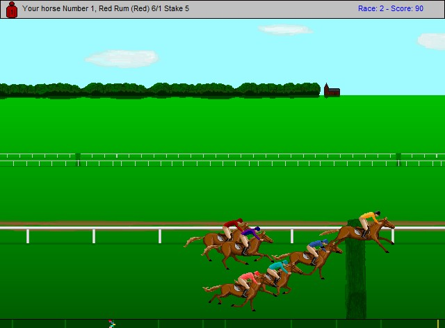 Free horse race steeplechase game screen shot